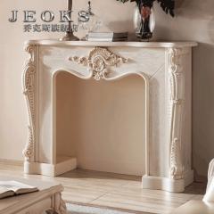 乔克斯别墅家具 欧式壁炉法式装饰柜 实木玄关台储物柜客厅壁炉架