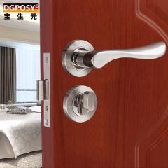 德国304不锈钢木门隐形门锁单面暗锁门锁单锁纯铜锁芯门把手木门