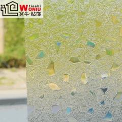 静电磨砂玻璃贴膜 幻彩石 窗户移门贴纸花装饰 加厚隔热防紫外线