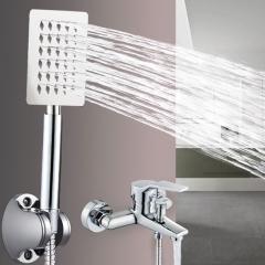 304不锈钢淋浴淋雨洗澡洗浴花晒头 挂墙式增压洒花洒喷头套装家用