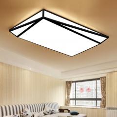 客厅简约现代家用长方形led吸顶灯创意几何卧室灯饰房间遥控灯具