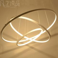 现代简约led吊灯 创意个性圆环形办公室客厅餐厅卧室吊灯时尚灯饰